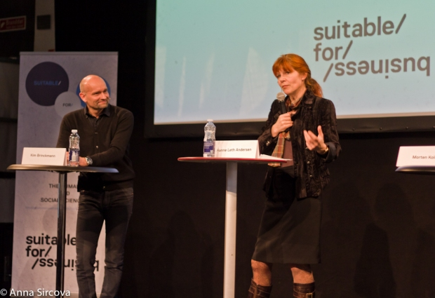 Kim Brinckmann (from the Ministry of Science, Innovation and Higher Education), Hanne Leth Andersen (Pro-rector of Roskilde University) at the Suitable for Business 2013
