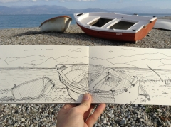 Creative Flow through Sketching and Writing, Diakopto, Greece