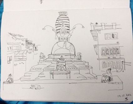 Nepal-sketches-anna-sircova - 1